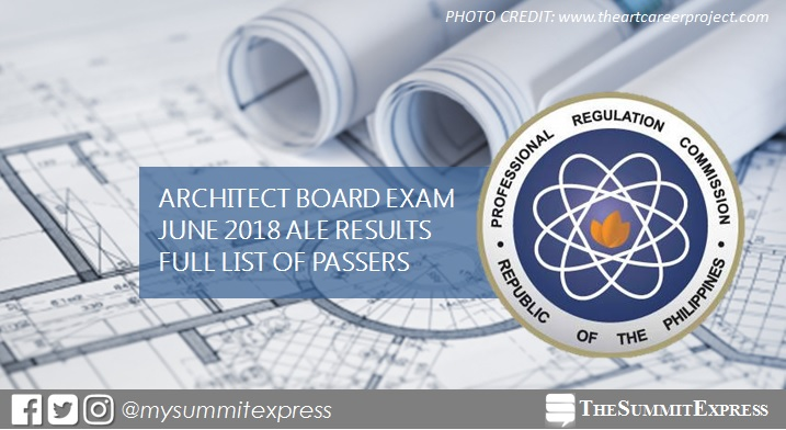 FULL RESULTS: June 2018 Architecture board exam ALE list of passers