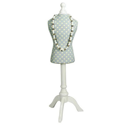 The Fabric Covered Mini Mannequin Display is in a lovely pastel green shade | NileCorp.com