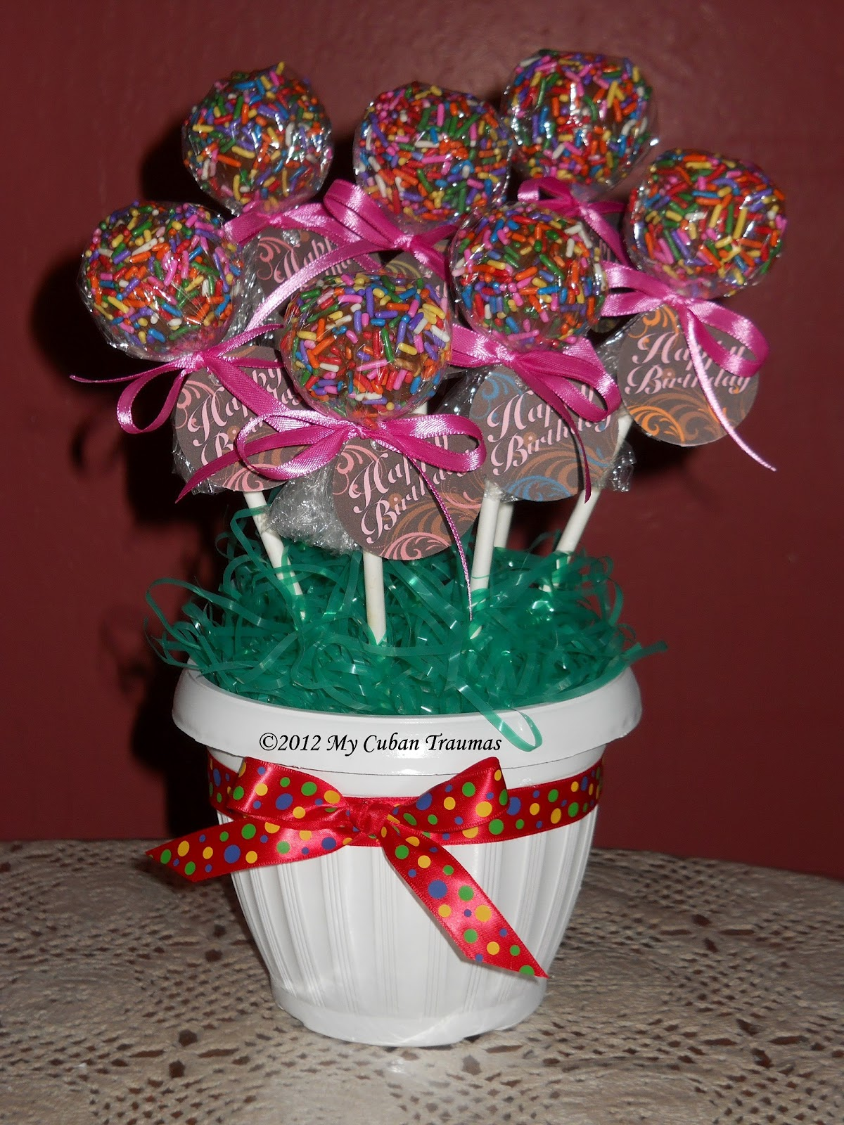 Cake Pops Bouquet For Long Distance Delivery
