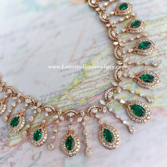 Emerald Combination Diamond Necklace