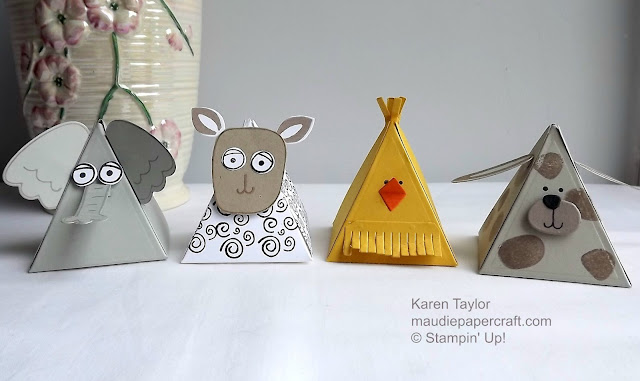 Stampin' Up! Pyramid pals