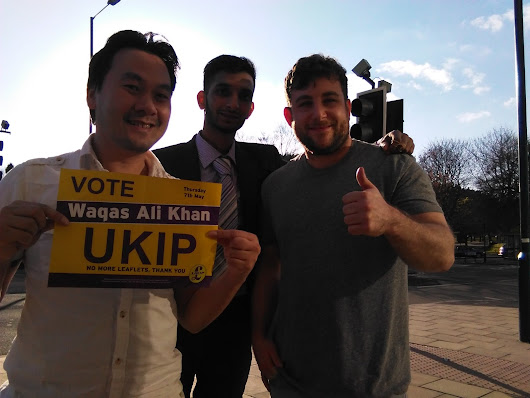 "Out In Bingley in the bars and getting loads of support people were cheering ""I will vote UKIP"""