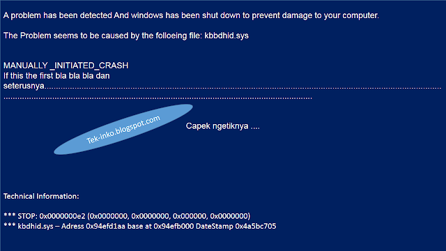 Begini Cara Mengatasi Blue Screen Of Death [All Windows]