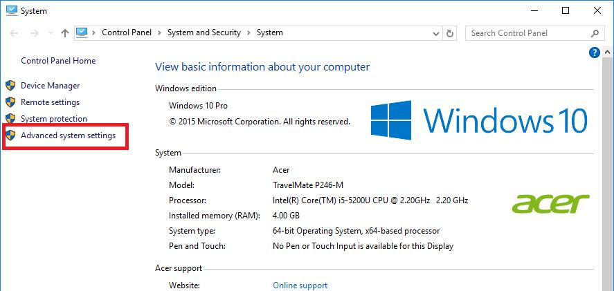 Windows 10 My computer window