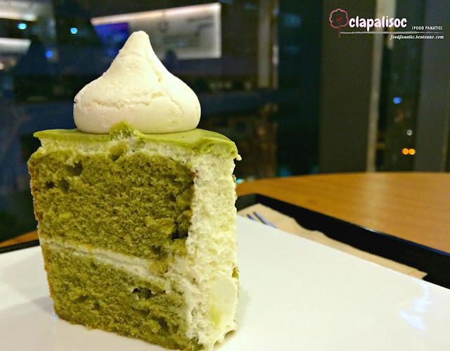 Matcha Chiffon Cake Slice