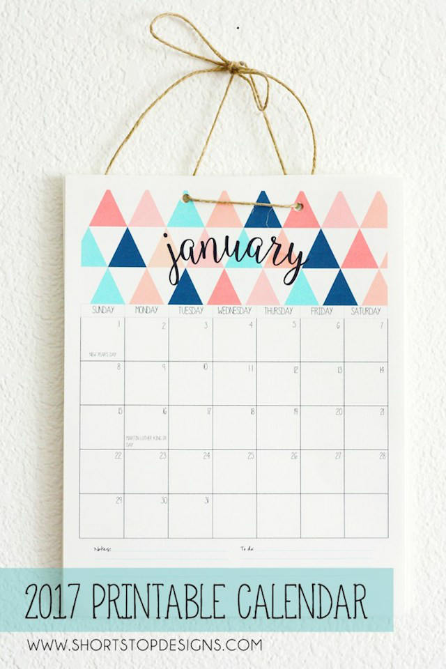 5 calendarios imprimibles ¡Gratis!