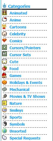 cursors-4u.com category