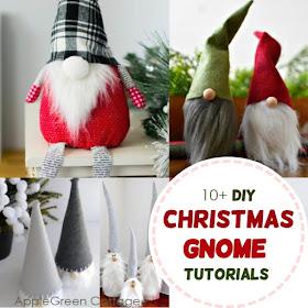 Christmas Gnome Decor.10 Christmas Gnome Tomte Tutorials Applegreen Cottage