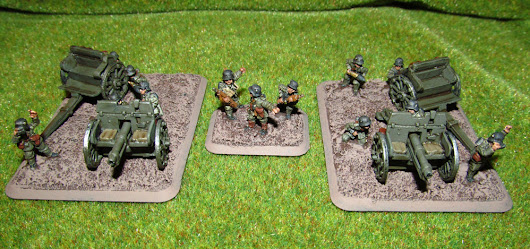German 7.7cm FK96 guns for Flames of War Great War