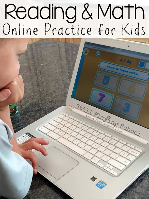 Online reading and math practice for kids recommended by a teacher and parent!