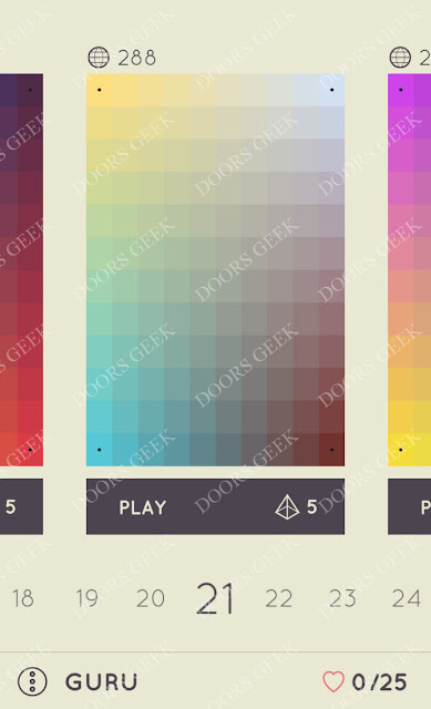 I Love Hue Guru Level 21 Solution, Cheats, Walkthrough