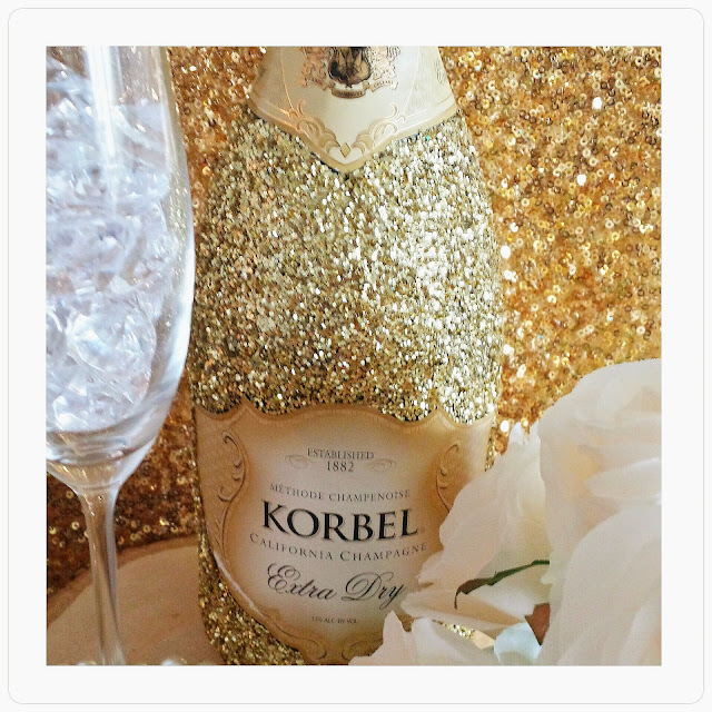 DIY Bling Bottles, Champagne Bottle