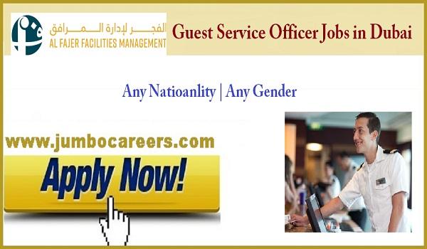 Guest relation officer jobs for Indians, Recent Dubai job vacancies,