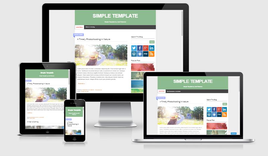Download Simple Responsive Blogger Template - Maxikom | Template ...