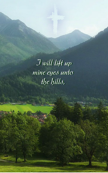 Shall I depend upon the strength of the hills?