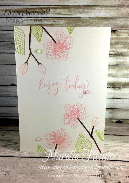 Climbing Orchid Stamp Set and Coordinating Framelits - Create stunning floral cards in minutes - Simply Stamping with Narelle - purchase your set here - http://bit.ly/2v7g4DN