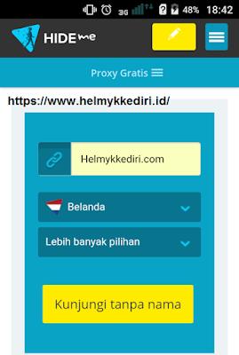 Cara membuka situs diblokir melalui androidv