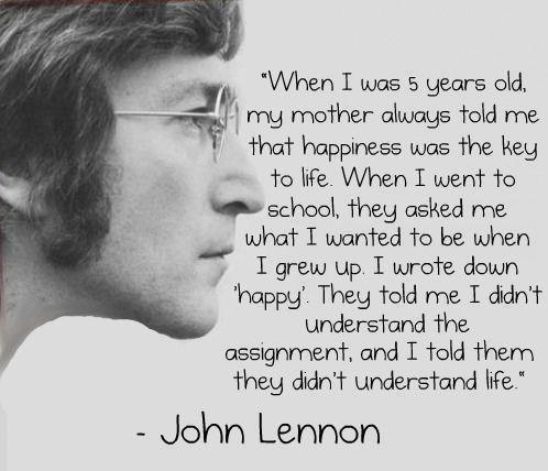 citater om forandring Allys verden: Mit yndlings John Lennon citat citater om forandring