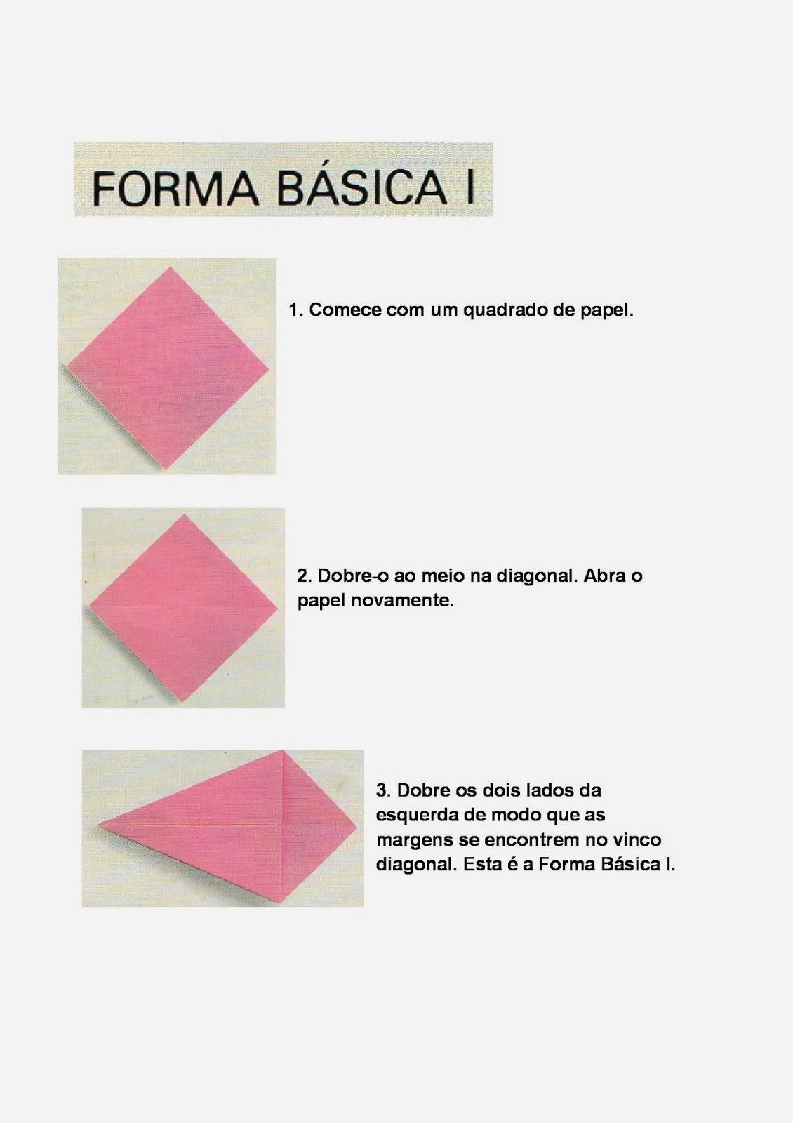 Dobraduras - Forma Básica - Origami