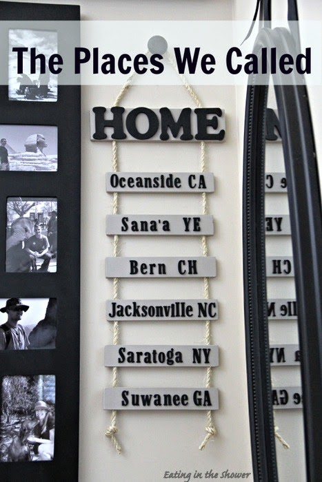 DIY Duty Station Sign for Military Families