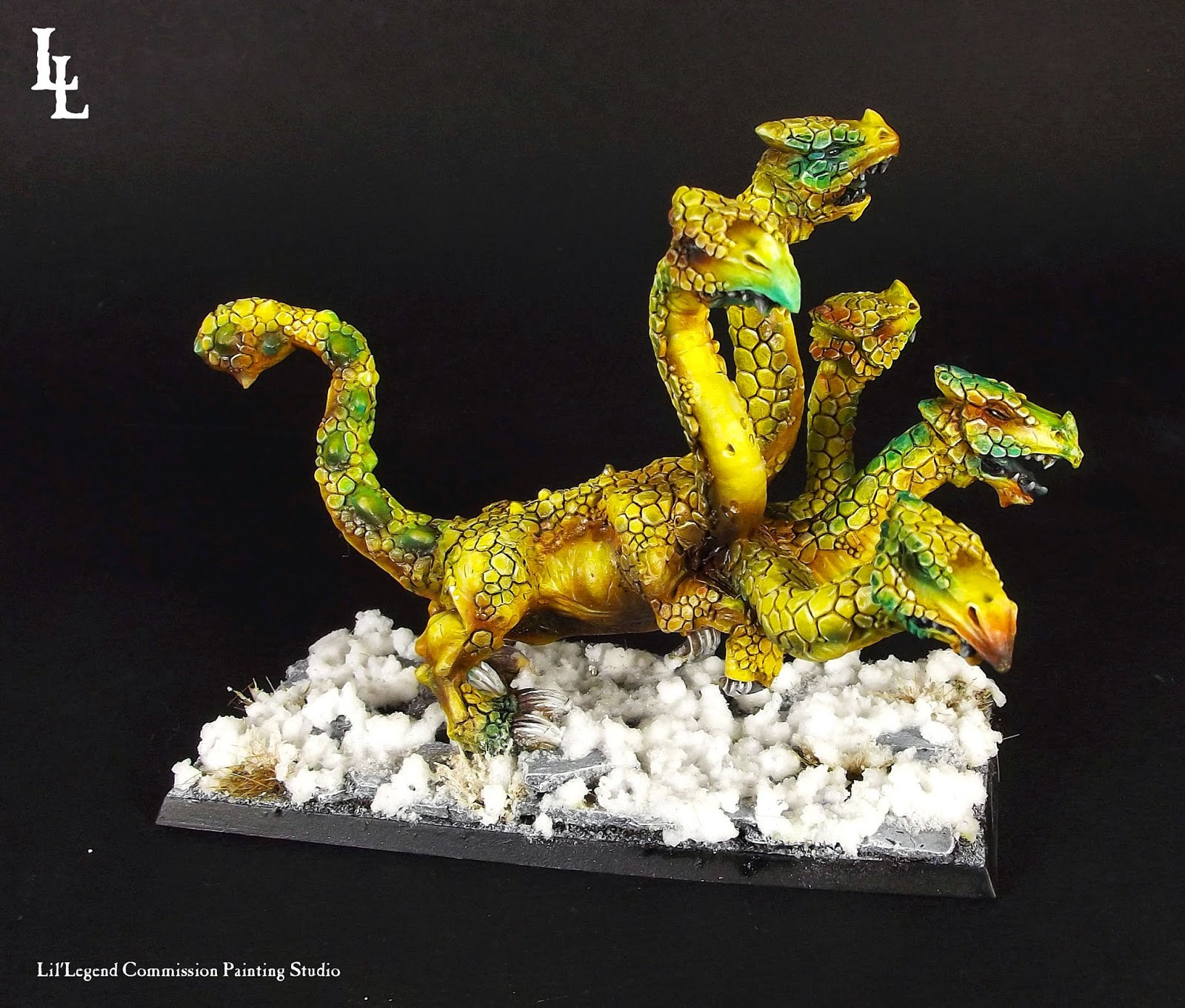 Classic Dark Elf Hydra  The Golden Hydra of Khursh  Old
