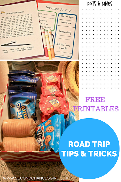 Here's a list of road trip tips and tricks that work for our family, along with free road trip printables for kids of all ages!! #GetPackin #ad @Walmart