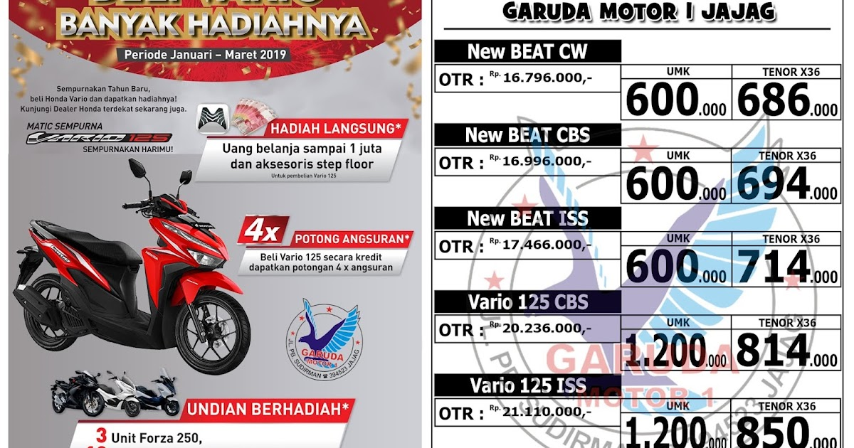 Brosur Kredit Motor Honda Scoopy 2019