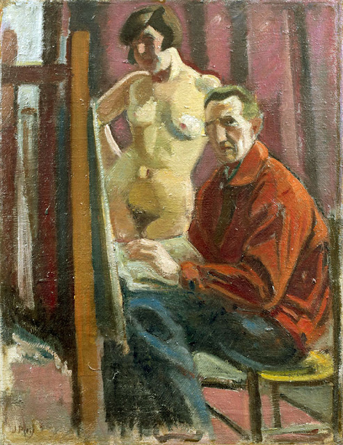 Jean Puy, Self Portrait, Portraits of Painters, Fine arts, Portraits of painters blog, Paintings of Jean Puy, Painter  Jean Puy