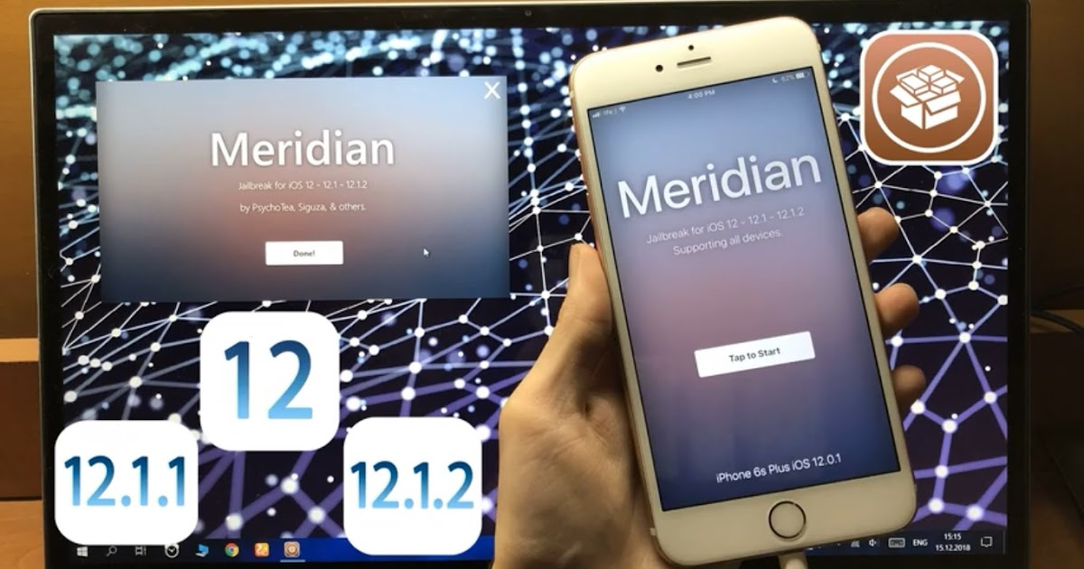 New Meridian 12 JB iOS 12 - 12 1 and 12 1 2 working Cydia