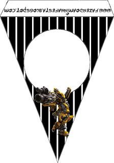 Banderitas de Transformers para imprimir gratis.