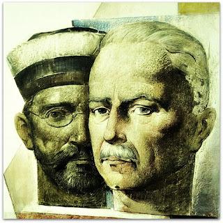 Olintho de Oliveira e Carlos Barbosa Gonçalves - 'As Artes', Aldo Locatelli (1958) - Instituto de Artes da UFRGS, Porto Alegre