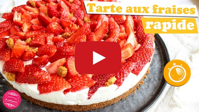 recetet video tarte fraises