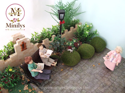 """minilys miniatures"" ""garden"" ""dolls"" 1:12 books"