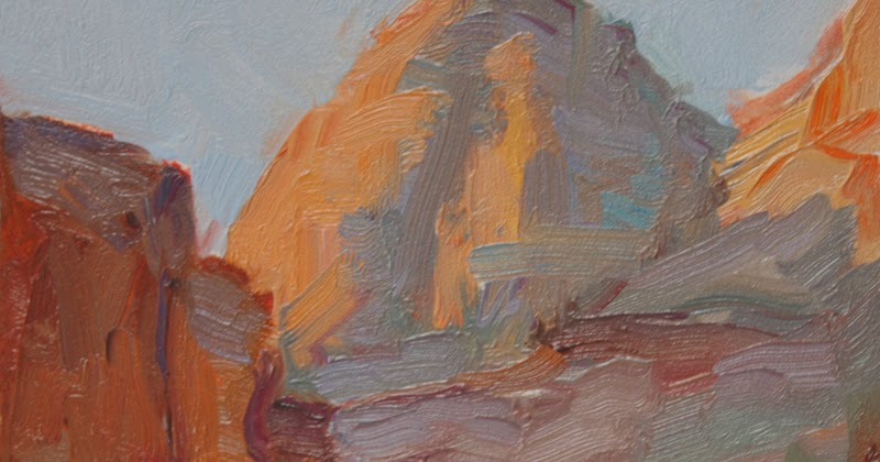 Kathryn Townsend Painting Studio Grand Canyon Sketch 6 Sold