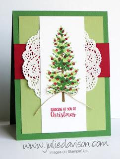 Stampin' Up! Season Like Christmas Card ~ 2017 Holiday Catalog ~ www.juliedavison.com