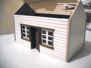 Cardboard station building