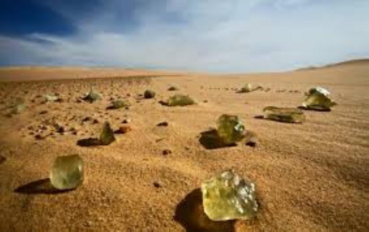 Libyan Desert glass sahara desert