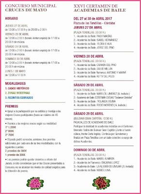 Programa del Concurso de Cruces de Mayo y Academias de Baile - CÓRDOBA 2017