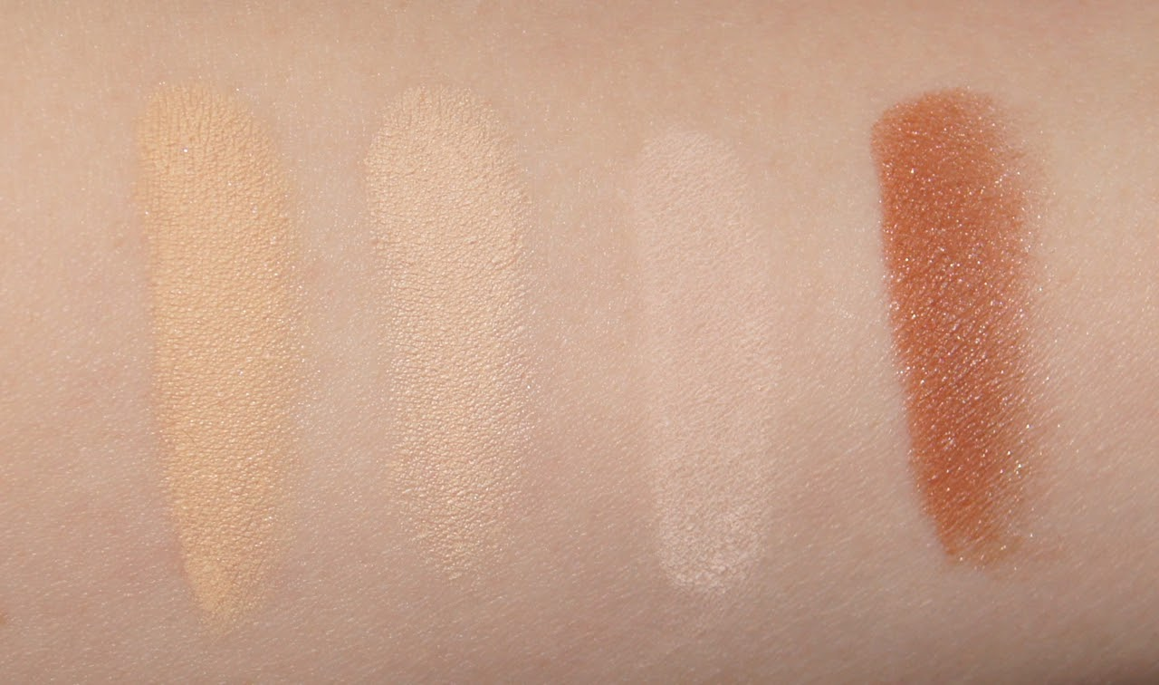 bare minerals original foundation light fairly light mineral veil warmth bronzer swatches review