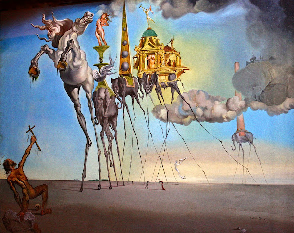 Salvador Dali, Macabre Art, Macabre Paintings, Horror Paintings, Freak Art, Freak Paintings, Horror Picture, Terror Pictures