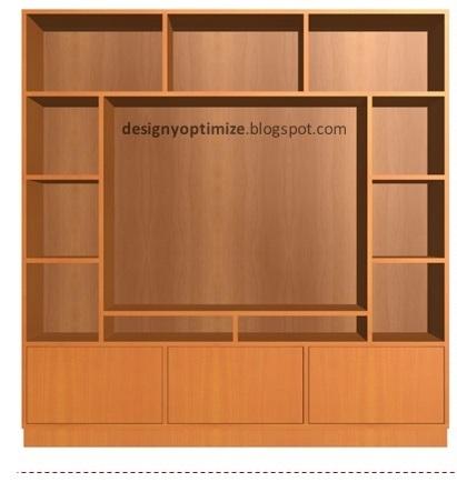 Dise o de muebles madera mueble de madera para tv de 40 for Muebles de diseno moderno para tv