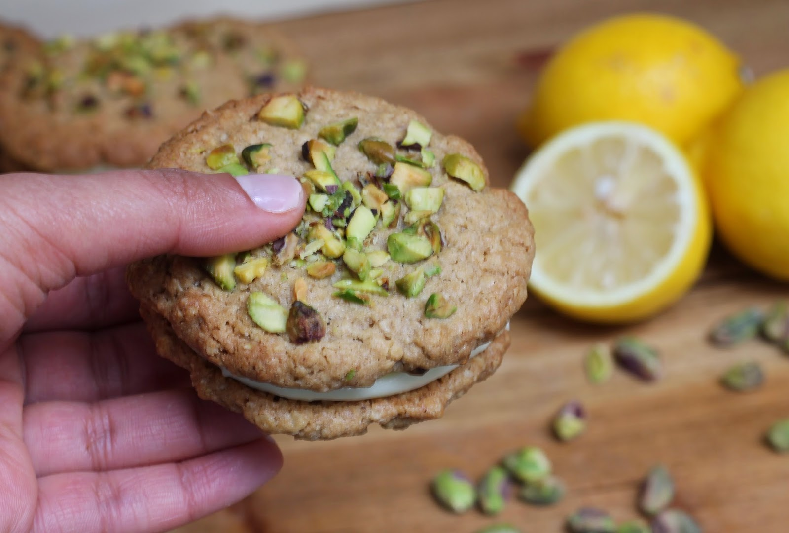 Lemon and mascarpone oat biscuits