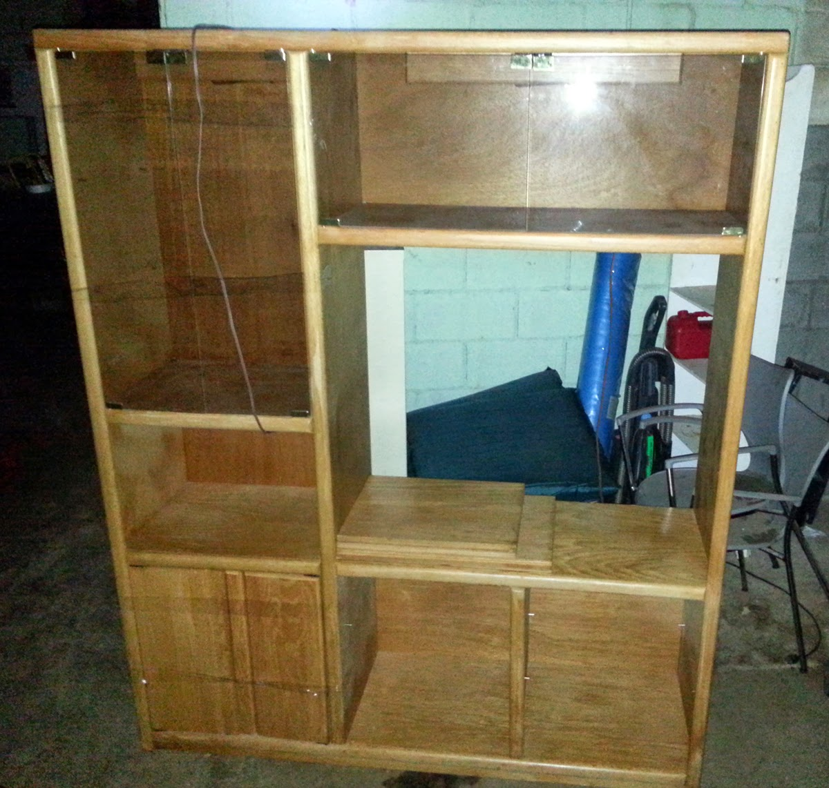 solid wood entertainment center price reduced okc craigslist