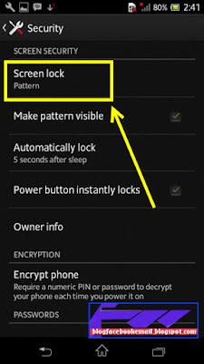 cara agar pola pengunci layar tidak muncul lagi