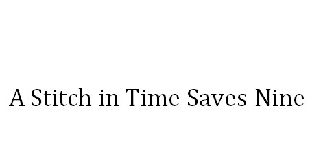 a stitch in time saves nine english story for matric and f a a stitch in time saves nine english story for matric and f a students student teacher centre