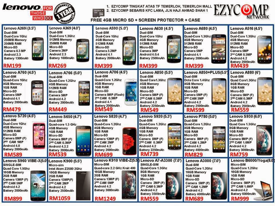 Smartphone Lenovo Murah