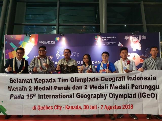 Empat Siswa SMA Indonesia Raih Penghargaan di Olimpiade Geografi Internasional