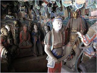 ประติมากรรมในวัดเสวียนคง (Xuankong Temple)