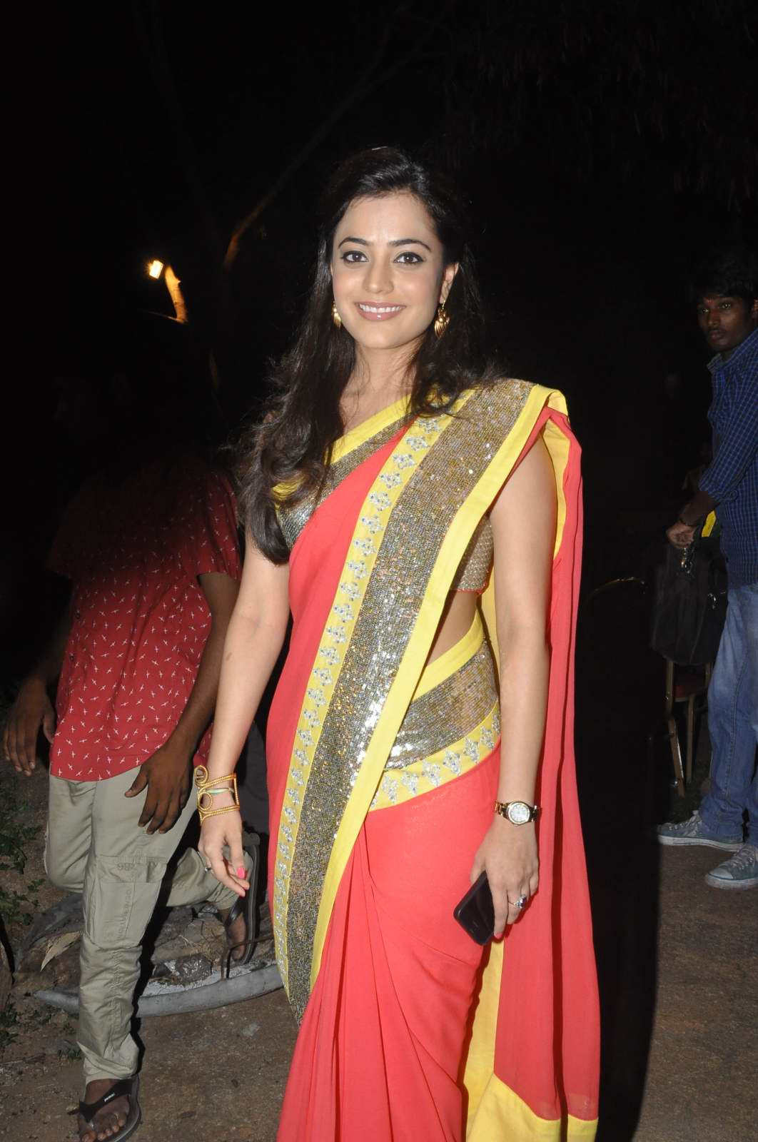 glorious sexy Nisha agarwal latest photos in ethnic saree social party