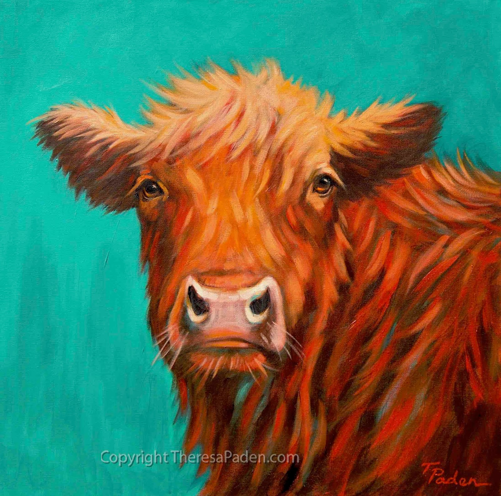 Paintings by Theresa Paden: Western Art Cow Paintings by